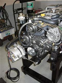 Team Yachtwork - Dual high output alternator mount fabrication and installation upgrades