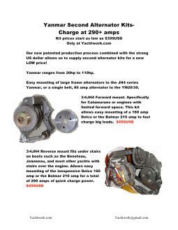 Team Yachtwork - Dual high output alternator mount